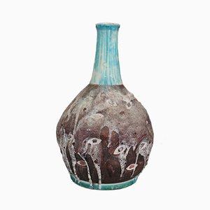 Italian Glazed Ceramic Vase from C.A.S. Vietri, 1950s