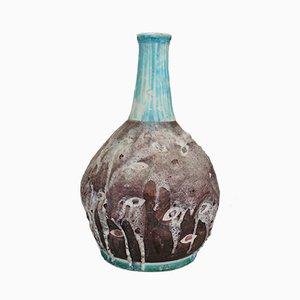 Italienische Glasierte Keramik Vase von CAS Vietri, 1950er
