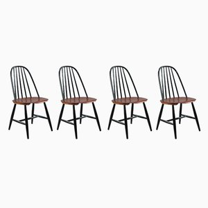 Scandinavian Modern Teak Dining Chairs from Hagafors, 1950s, Set of 4