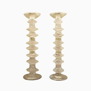Glass Candleholders by Timo Sarpaneva for Iittala, 1980s, Set of 2