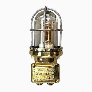 Industrielle Outdoor-Wandlampe aus Messing & Borosilikat von Tranberg, 1970er