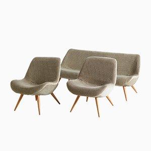 Muschelförmige Mid-Century Sitzgruppe, 1950er