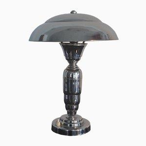 Französische verchromte Tischlampe im Art Déco-Stil, 1940er