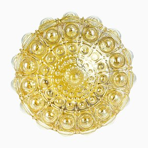Round German Glass Ceiling Lamp from Dolin, 1970s