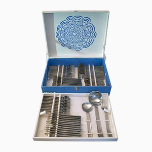 Italian Steel Cutlery Set from Abert, 1970s