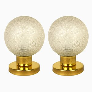 Space Age German Brass and Incandescent Lamps Table Lamps from Doria Leuchten, 1960s, Set of 2