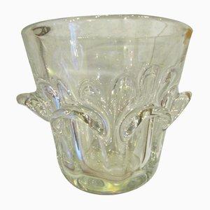 Vase Vintage en Verre par Guido et Antonio Bon pour Val St.lambert