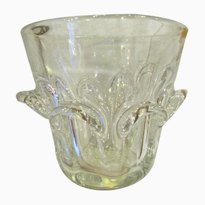 Vintage Glass Vase by Guido and Antonio Bon for Val St.lambert