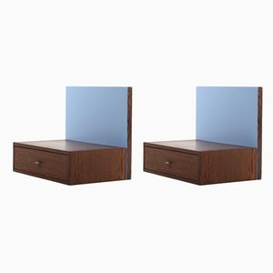 Mid-Century Danish Wenge Wall-Mounted Nightstands, 1960s, Set of 2