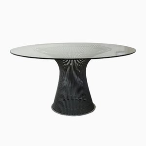 Glass and Steel Dining Table by Warren Platner for Knoll Inc. / Knoll International, 1966