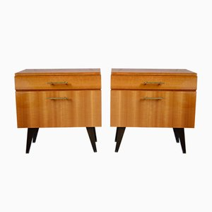 Compass Feet Nightstands, 1960s, Set of 2