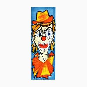 Tableau Mural Vallauris Le Clown en Céramique par La Grange, France, 1960s