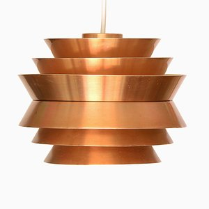 Swedish Aluminum Trava Pendant Lamp by Carl Thore for Granhaga Metallindustri, 1970s