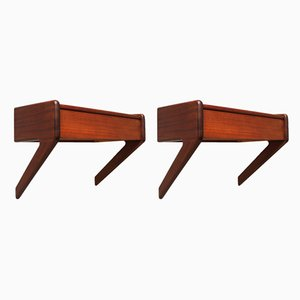 Danish Teak and Wood Side Tables by Ølholm møbelfabrik for Ølholm Møbelfabrik, 1960s, Set of 2