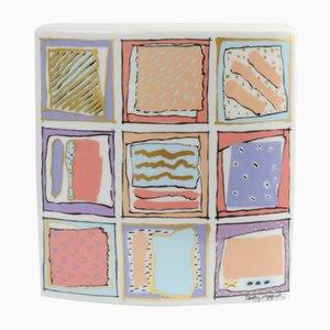 Postmoderne deutsche Porzellanvase von Dorothy Hafner für Rosenthal, 1980er