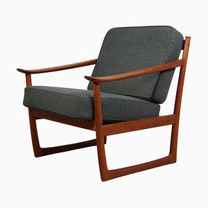 Chaise Modèle 130 en Teck par Peter Hvidt pour France & Son, 1960s