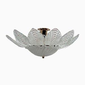 Italienische Mid-Century Deckenlampe aus Muranoglas von Ercole Barovier für Barovier & Toso, 1970er