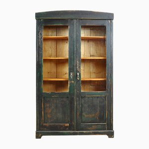 Vintage Pine & Glass Cupboard, 1940s