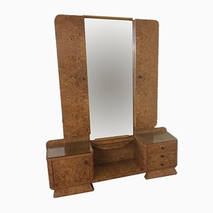 Toeletta Art Deco con specchio, anni '30