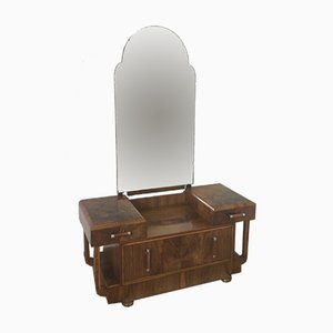 Art Deco Dressing Table with Mirror, 1930s