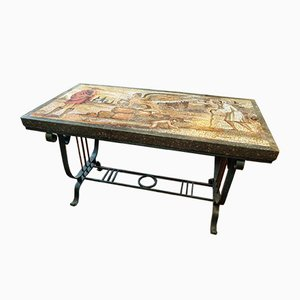 Florentine Marble Mosaic Coffee Table, 1920s