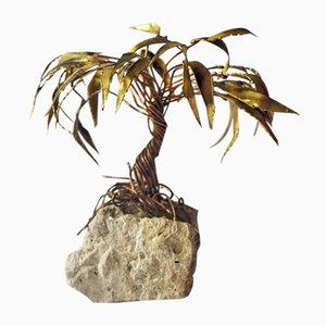 Kupfer Palmen Skulptur von Daniel d'Haeseleer, 1970er