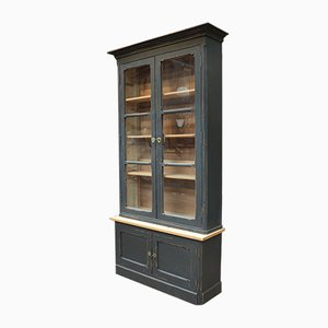 Black Patinated Fir Cupboard, 1920s