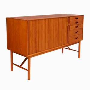Teak Sideboard with 5 Drawers by Peter Hvidt & Orla Mølgaard-Nielsen, 1950s