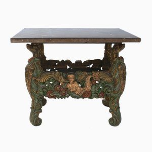 Antique European Carved Side Table, 1740s