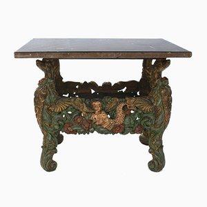 Tavolino antico intagliato, Europa, metà XVIII secolo