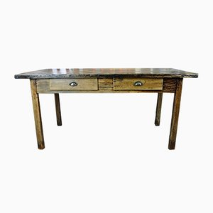 Französischer Bauerntisch aus Eichenholz, 1940er