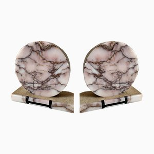 Art Deco Style Marble Bookends, 1950s, Set of 2