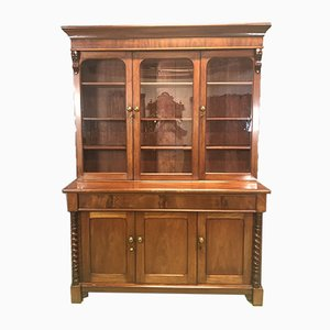 Antique Victorian Mahogany Display Cabinet