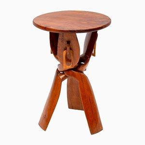 Afrikanischer Vintage Hocker oder Säulentisch, 1960er