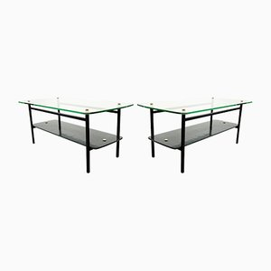 Vintage French Coffee Tables, Set of 2, 1950s