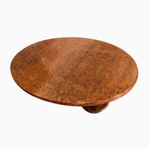 Tavolo da pranzo ovale vintage in radica di betulla di Smania