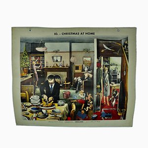 Double-Sided Christmas At Home Poster from Masson & Cie, 1960s