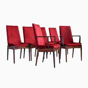 Esszimmerstühle aus Palisander von Robert Heritage für Archie Shine, 1950er, 6er Set