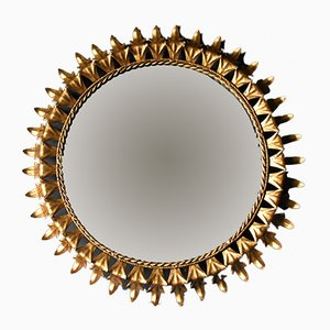 Spanish Gilt Sunburst Mirror, 1960s