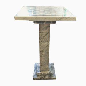 Schachbretttisch aus Marmor, 1980er