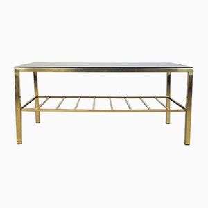 Vintage Brass & Glass Coffee Table, 1950s