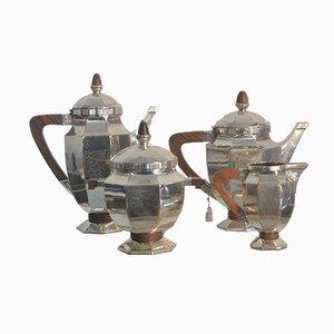 Französisches Art Déco Kaffeeservice von Gallia, 1930er
