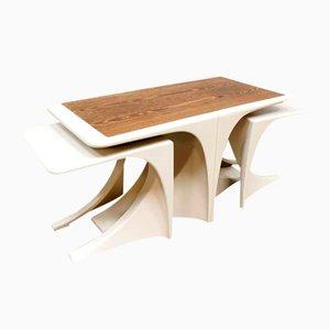 Tavolini ad incastro vintage, anni '70