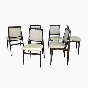 Esszimmerstühle von Osvaldo Borsani für Dassi, 1950er, 6er Set