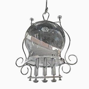 Italienische Vintage Deckenlampe aus mundgeblasenem Glas, 1970er