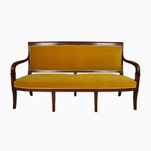 Antikes Sofa aus geschnitztem Mahagoni