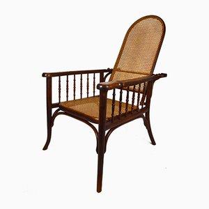 Antiker Armlehnstuhl aus Bugholz von Fischel, 1910er