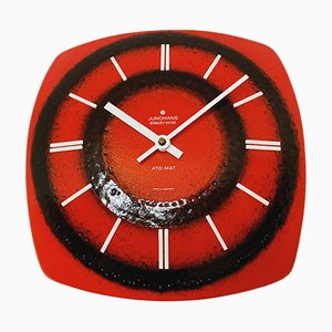 Ceramic Wall Clock from Junghans , 1960s