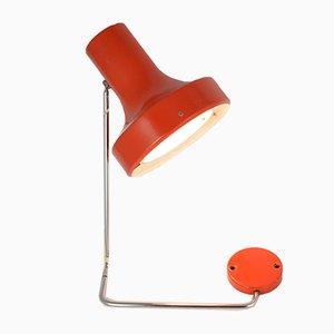 Rote tschechoslowakische Mid-Century Wandlampe von Josef Hurka für Napako