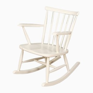 White Rocking Chair, 1960s